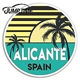 FAFPAY Sticker de Carro Tiempo de Salto para Alicante Pegatinas de Vinilo españa Viaje portátil Pegatina Accesorios de Equipaje Impermeable dwaterproof Water Car DecalEstilo A