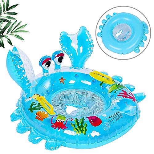 Cute shape swim ring, BETOY Cute Harmless Baby Swim Ring, Swimming seat for children, Durable Harmless PVC Adorable Swimming Boat, Cartoon Animal Shape for Infant Baby(blue)