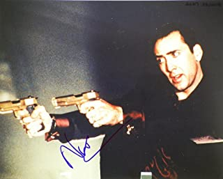 Nicolas Cage In-Person Autographed 8x10 Color Photograph - Signed in Blue Sharpie - Photo from Face Off - Ghost Rider/Astro Boy/Con Air/National Treasure - Rare - Collectible