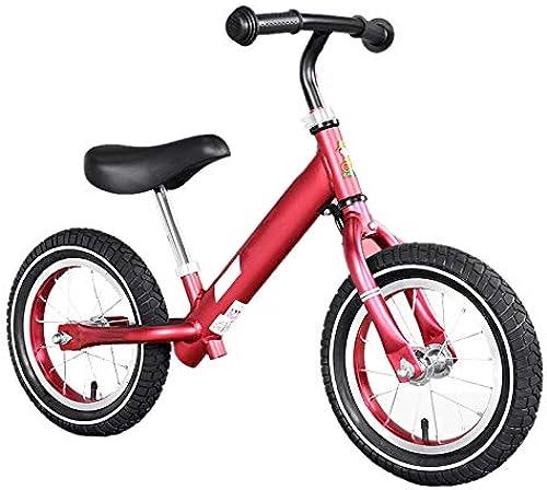 Laufr r Rotes Balance-fürrad, kein Pedal Walking-fürrad mit verstellbarem Lenker und Sitz, für Alter 2 3 4 5 Jahre