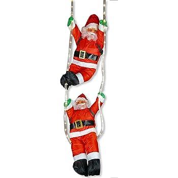 Papá Noel escalera LED, set 2, 60 cm: Amazon.es: Bricolaje y herramientas