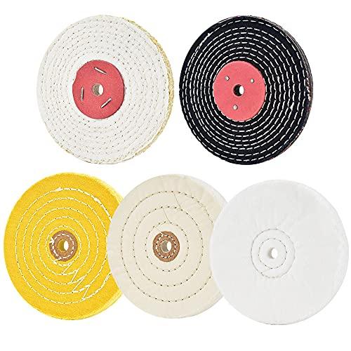"""6 disques de polissage pour ponceuse de table avec trou à ardillon 1/2"""" 5 pièces"""