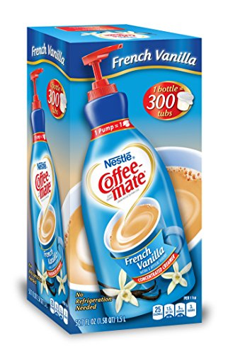 Nestle Coffee mate Coffee Creamer, French Vanilla, Liquid Pump Bottle, 50.7 Ounces