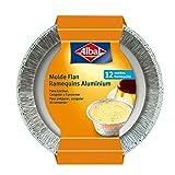 Albal Aluminio para Flan | Desechables | 8x8x6 centímetros | Especial Repostería | 12 Moldes
