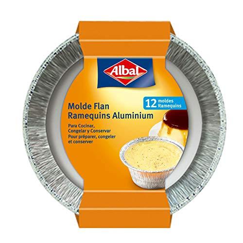 Albal Aluminio para Flan | Desechables | 8x8x6 centímetros | Especial Repostería...