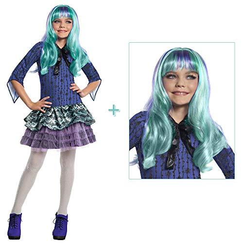 Kinder Twyla Spinnen Kostüm / Monster High / Halloween & Karneval Mädchen Party (140/146 (8-10Jahre))
