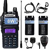 TIDRADIO UV-82 Ham Radio Handheld, High Power Dual Band Radio, Portable Two Way Radio with Extra 3800mAh Battery Full Kits(1Pack-Black)