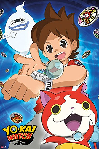 empireposter Yo-Kai Watch-Trio Anime spel poster grootte 61x91,5 cm, papier, kleurrijk, 91,5 x 61 x 0,14 cm
