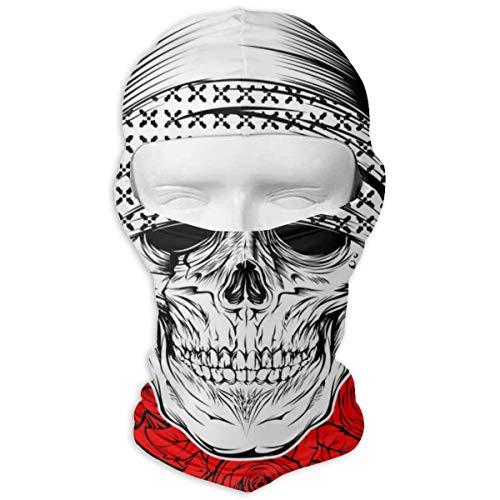 NOBRAND Full Face Masker Schedel Het dragen van Bandana Met Rose Hood Zonnebrandcrème Masker Dubbele Laag Koud Voor Mannen En Vrouwen