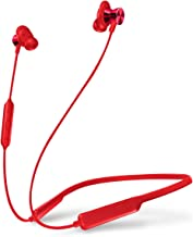 Bluetooth Headphones Wireless Earbuds V4.2 Magnetic Neckband 8H Playtime Sports Earbuds with Mic (Aptx Stereo Sound, IPX5 Waterproof,CVC6.0 Noise Cancelling, Metal Design) Headset for Running (Red)