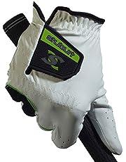 Stuburt Golf STGLV08 Mens Urban All Weather Golf Handschoen Met Cabretta & Synthetisch Leer, Wit/Zwart