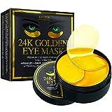 Under Eye Collagen Patches - 24K Gold Eye Mask Anti-Aging Hyaluronic Acid - Under Eye Mask for Reducing Dark Circles & Puffy Eyes (30 Pairs) - Under Eye Bags Treatment
