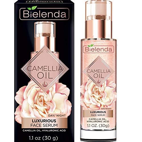 Bielenda Camellia Oil - Nutritious Micro-Pearls Smoothes Wrinkles, Prevents Flaccidity, Improves The Structure And Elasticity Of The Skin - Camellia Oil Luxurious Rejuvenating Face Serum - 30 ml