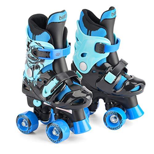 Osprey Quad Skates für Kinder, Verstellbare Rollschuhe für Jungen, Blau