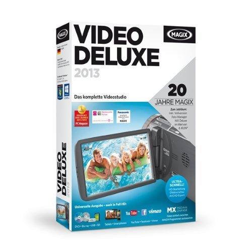 MAGIX Video deluxe 2013 (Jubiläumsaktion inkl. Foto Manager MX Deluxe)