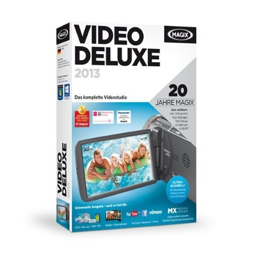 MAGIX Video deluxe 2013 (Jubiläumsaktion inkl. Foto Manager MX Deluxe)