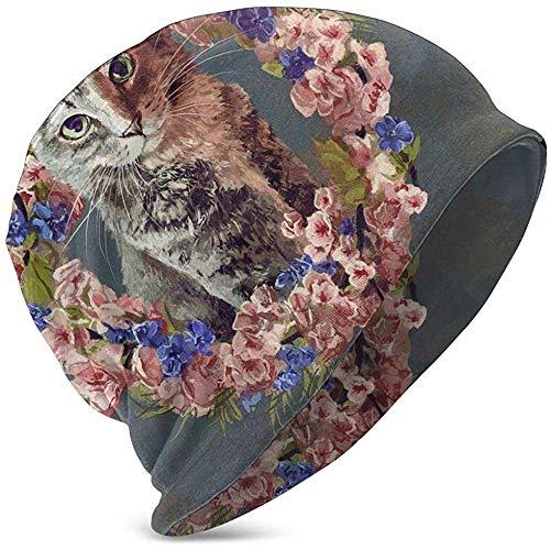 GodYo Unisex Beanie Caps Bowser bloem kat slinger schedel muts gebreide muts warme winter zomer gebreide muts voor meisjes jongens zwart