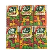 Tic Tac Fruit Adventure Mints | Fruit Adventure Tic Tacs | Fruit Flavored Mints | Fruity Candy | Pack of 6 | 1 oz Tubs