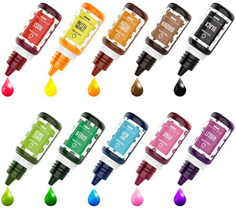 DaCool Food Coloring Cake Color Set Food Grade Food Color Dye Liquid 10 Color Flavorless Vibrant product image