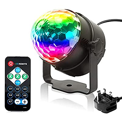 Disco Lights, KOOT Sound Activated Disco Ball Lights with Remote Control RGB DJ Lights Stage Strobe Lights for Home Birthday Disco Party Dance Karaoke Show Club Pub