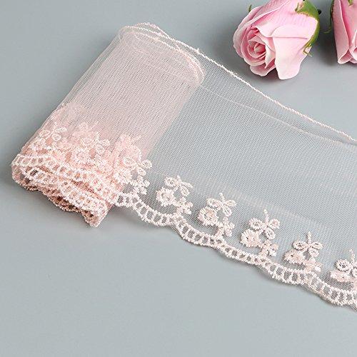Qiuda 0,9/m Fleur Perle 3d Dentelle ruban 10/cm de largeur Style vintage Violet Bordure garnitures Tissu brod/ée Applique /à coudre Craft Mariage Robe de mari/ée D/écoration DIY D/écor V/êtements /à broder
