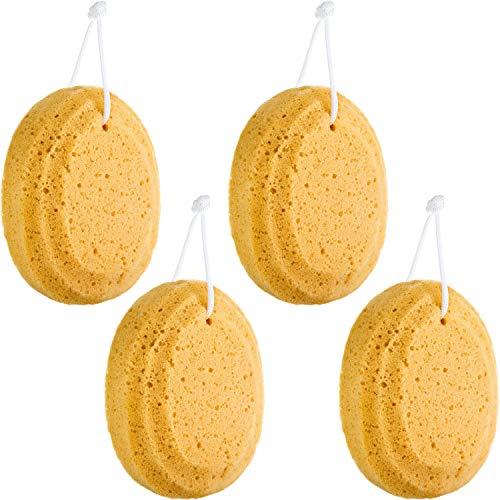 4 Pieces Soft Bath Sponge Exfoliating Shower Foam Body Sponge Exfoliating Soothing Sponge for Bathroom Supply