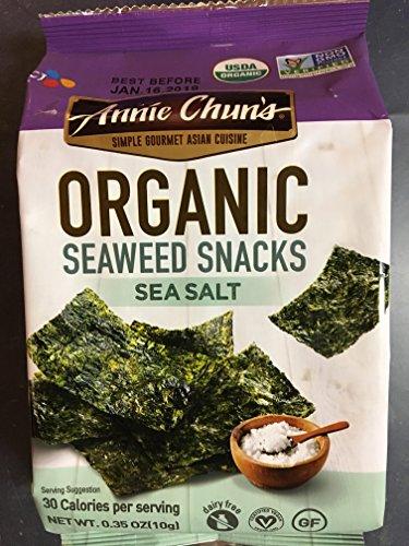Annie Chun's Organic Seaweed Snack Sea Salt 0.35 OZ (Pack of 2)