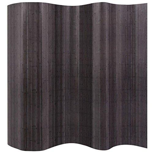 vidaXL Raumteiler Paravent Trennwand Umkleide Dekowand Sichtschutz Spanische Wand Schlafzimmer Bambus Vlies-Rückseite Grau 250x165cm