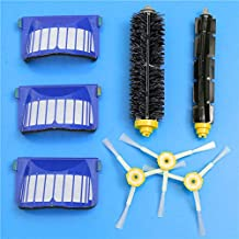DORLIONA 8pcs Replacement Brush Filter Kit for iRobot Roomba 600 Series Vacuum Cleaner Accessories Replacement