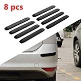Universal Car Bumper Protector Rubber, Anti-Collision Front and Rear Rubber Strips for Car Bumpers Side, Not Easy to Fall Bumper Protector Trim Guard Strip for Sedan SUV MPV Pickup Truck (8 Pcs)