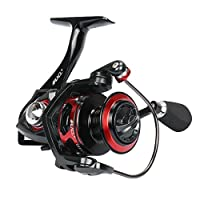 RUNCL Spinning Reel Titan I, Fishing Reel with Full Metal Body, Max Drag 44LB, 5 Carbon Fiber Drag Washers, 9+1 Stainless Steel Shielded Bearings, Hollow Out Rotor for Saltwater and Freshwater (6000)