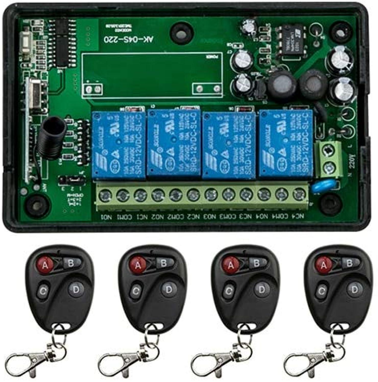 Hot Sales AC85v250V 110V 220V 230V 4CH Wireless Remote Control Switch System Receiver and Transmitter Applicance Garage Door  (color  D)