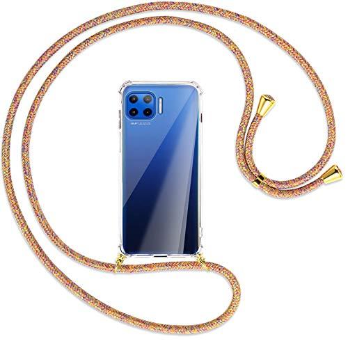 mtb more energy Collar Smartphone para Motorola Moto G 5G Plus (6.7'') - Rainbow/Oro - Funda Protectora ponible - Carcasa Anti Shock con Cuerda Correa