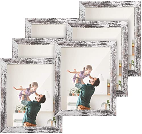 HOUSE DAY Marco de fotos 20x25cm 6piezas,cuadros de exhibición marco de patrón de madera vintage con marco de fotos de...