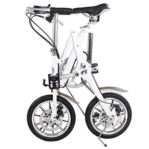 WYFDM Bicicletas, Aleación De Aluminio 14 Pulgadas, 16 Bicicleta Plegable, Mini, Macho Y Hembra, Adultos, Cambiando Segundos, Ideal para Montar En La Ciudad Desplazarse
