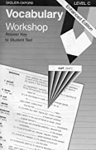 Vocabulary Workshop: Level C, Answer Key for Student Text