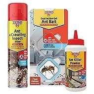 STV International Gel Bait Pack, Zero in-Ant Killer Kit (Spray, Powder + Stations), Multi-Colour, 22x12x8 cm