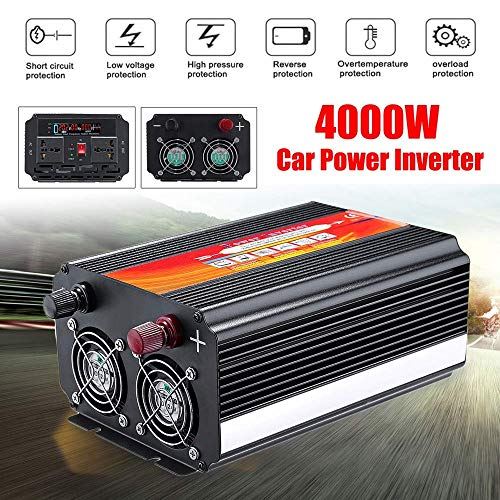 DDNB Power Inverter 8000W de energía de coche Inversor 12 / 24V a 110 / 220V Convertidor de onda sinusoidal DDNB Power Inverter (Size : 24v/110v)