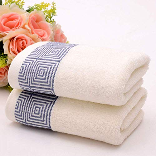 Katoenen handdoeken, dikke absorberende katoenen handdoeken, gezicht wassen handdoeken, huwelijksgeschenk gezicht handdoeken met geborduurde logo handdoeken