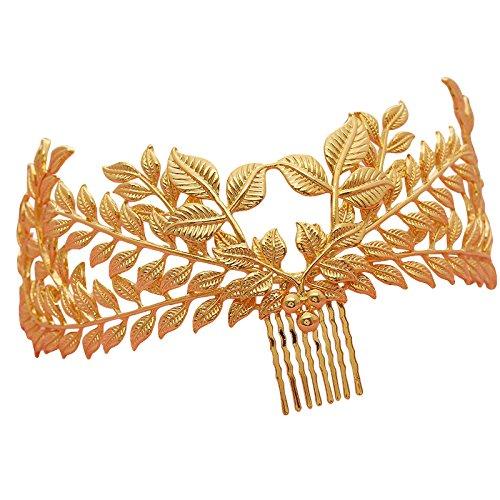 Unbekannt Luxus Hochzeit Tiara Kamm Blätter Braut Haarschmuck Haarkamm Gold