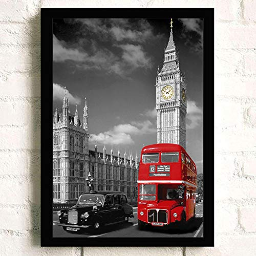 crjzty DIY Pintar por números 40x50cm Pintura London Tower