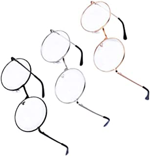 Xhuan Gafas Gafas (Redonda Vasos de Blandas Claires, 3 Colores, 3 Pares