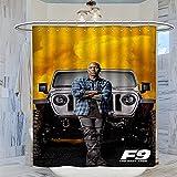DRAGON VINES F9 The Fast Saga Fast And Furious 9 Roman Pearce Rome Tyrese Gibson Movie Cool Cortina de ducha de tela para baño duchas y bañeras de 183 x 214 cm
