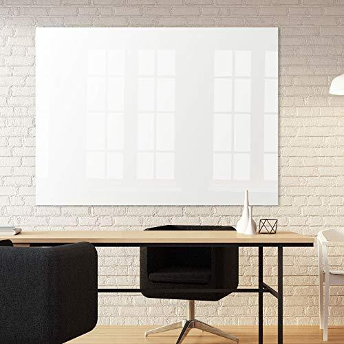 Magnettafel Glas - reines Weiß ohne Grünstich - TÜV geprüft - Magnetwand mit unsichtbarer Befestigung inkl. Bohrschablone - Whiteboard magnetisch & beschreibbar - 7 Größen (120 x180 cm)