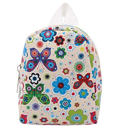 18 inch American girl cute backpack doll accessories-White LATT LIV