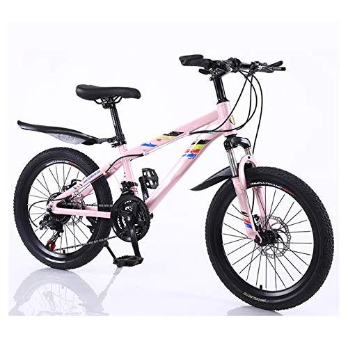 OFFA Bici Bambino Bici da Ragazze, Bambini Boys Bicycle Mountain Mountain Bikes, 20 Pollici Biciclette A Disco A Disco A Dischi da 20 Pollici, per Adatta per Altezza 130-160 Cm