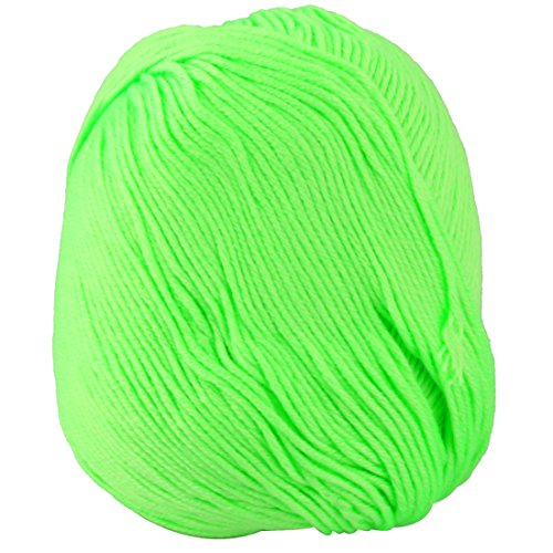 uxcell Home Women Winter Sweater Hat Handcraft Crochet Knitting Weaving Yarn 50g Fluorescent Green