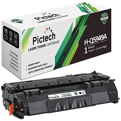 Pictech® Compatible cartucho de tóner Sustitución para HP Q5949A / 49A - para HP LaserJet 1160, 1320, 1320N, 1320TN, 3390MFP, 3392MFP, LBP3300, 3360 Impresoras (1x Negro)