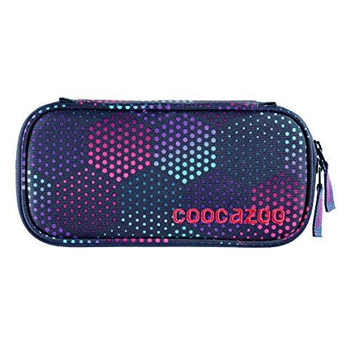"""coocazoo Federmäppchen PencilDenzel """"Purple Illusion"""" lila, Schlamperetui, Geodreieckfach, Stundenplanfach, herausnehmbarer Stiftehalter, zusätzliches Reißverschlussfach"""