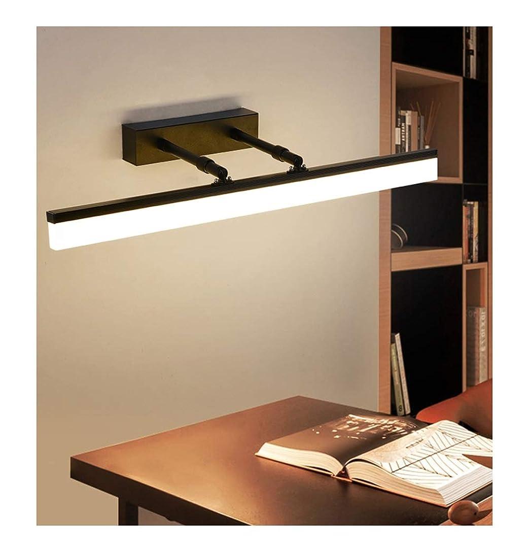 無臭レポートを書く母音北欧の格納式ミラーヘッドライト - 浴室防水防曇シンプルモダンな浴室用ミラーキャビネットランプLed浴室備品3C認証、12W、50Hz (Color : Warm light)